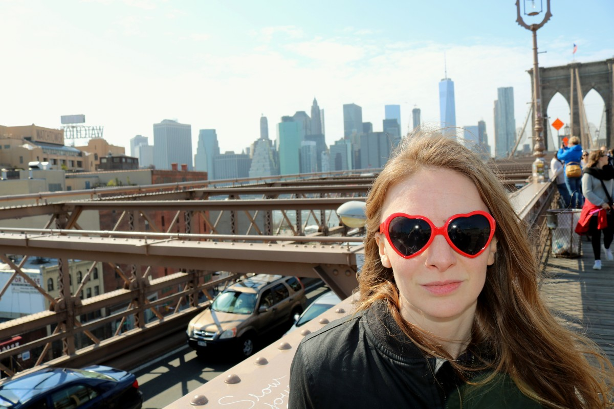 Chloe Philip of BMX Bandits hearts New York
