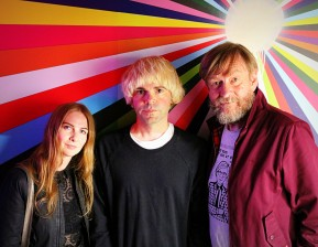 Chloe Philip, Tim Burgess & Duglas T Stewart at The Poetry Club, Glasgow.