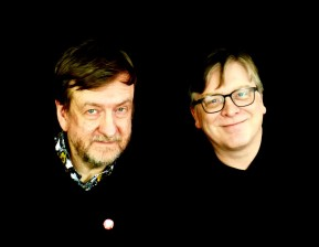 Duglas T Stewart of BMX Bandits and Norman Blake of Teenage Fanclub.